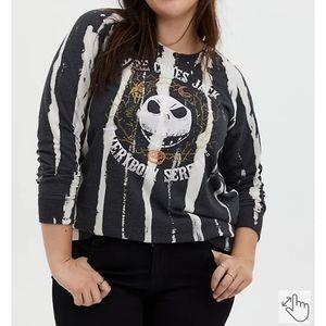 NWT Disney the nightmare before Christmas spray bleach sweatshirt